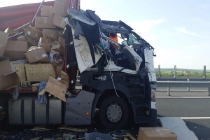 Accident pe A1 in zona localitatii Belint